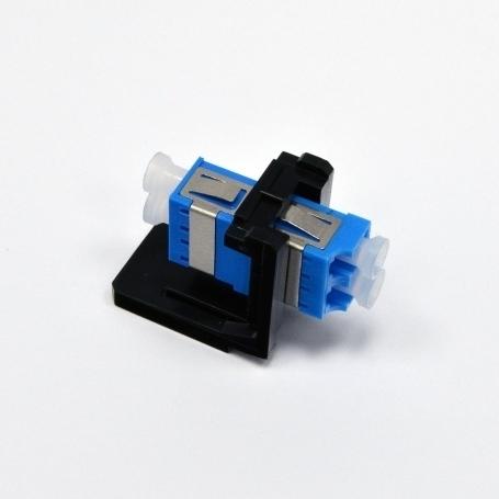 изображение Модуль LANS LC Duplex SM (OS2) для установки в розетку/патч-панель, чорний,Corning