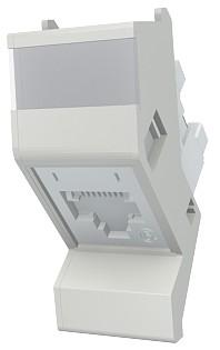 изображение Модуль Contura, 25x50 мм, 1xRJ45, угловой, 568A/B, UTP, PowerCat 6, белый
