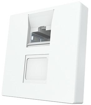 изображение Модуль Mod Mosaic 45x45 мм, 1xRJ45, прямой, 568B, FTP, PowerCat 5e, белый