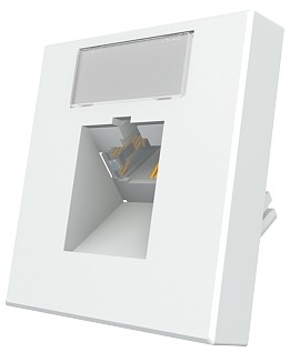 изображение Модуль Mod Mosaic 45x45 мм, 1xRJ45, угловой, 568B, FTP, PowerCat 5e, белый