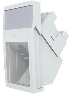 изображение Модуль Mod Mosaic, 22.5x45 мм, 1xRJ45, угловой, 568A/B, UTP, PowerCat 6, белый