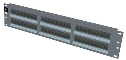 изображение Патч панель 48xRJ45, PowerCat 5e, неэкранированная 2U Графит. цвета