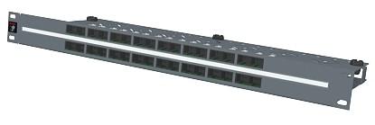 изображение Патч панель 32xRJ45, PowerCat 5e, неэкранированная 1U Графит. цвета