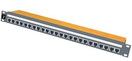 изображение Патч-панель 24xRJ45 DG+, 568A/B, PowerCat 6A, экранированная 1U, графит.цвета
