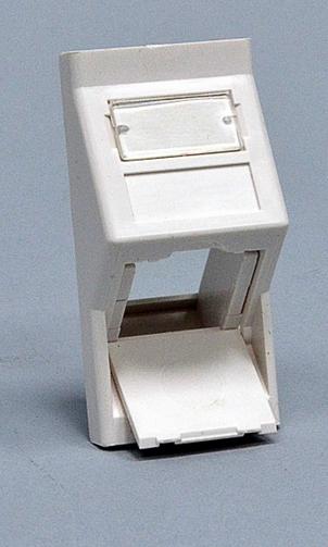 изображение Вставка 50х25 под модуль Keystone, под наклоном 45 градусов, белая, EPNew