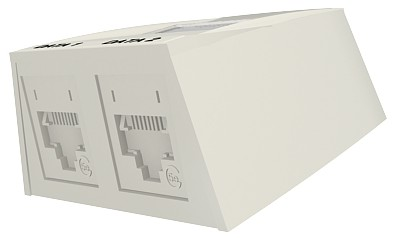 изображение Розетка настенная Synergy 2хRJ45, UTP 5е, внешняя, белая
