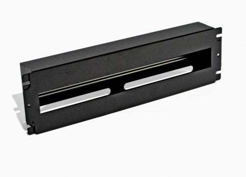 изображение Панель 19'' 3U с DIN-рейкой, для 24-х автоматических выключателей,  чёрная
