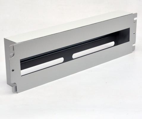 изображение Панель 19'' 3U с DIN-рейкой, для 24-х автоматических выключателей, серая