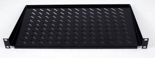 """изображение Полка консольная 19"""" 1U 300 мм, чёрная"""