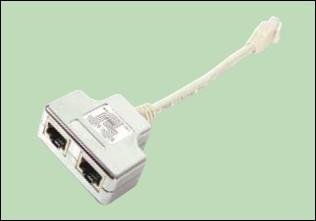 изображение Y-адаптер кат.5е 1x10/100 Base-T+1xISDN (1 телефонный и 1 компьютерный порт)
