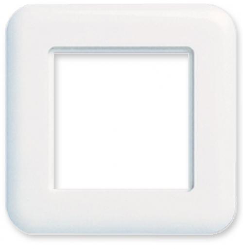 изображение Рамка для пластин LANSape, 80х80 мм, біла RAL9010, Ge style, Corning