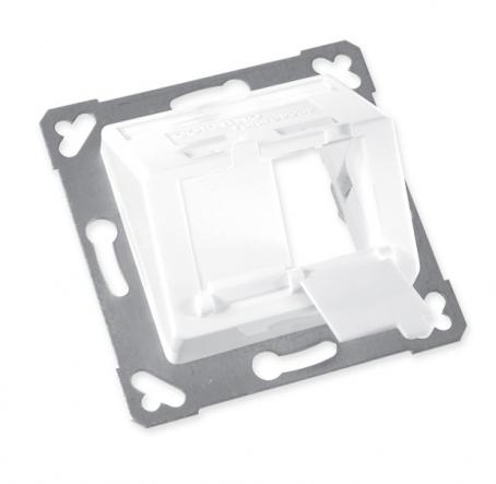 изображение Пластина на 2 модулі LANScape, похила, виступ назовні, біла RAL9010, Ge style, Corning