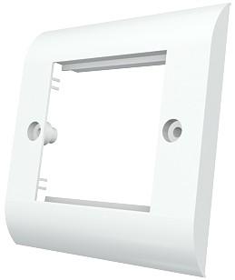изображение Рамка Evromod 50х50 настенной абонентской коробки SBX-00002-02, 1G, 2M, белого цвета
